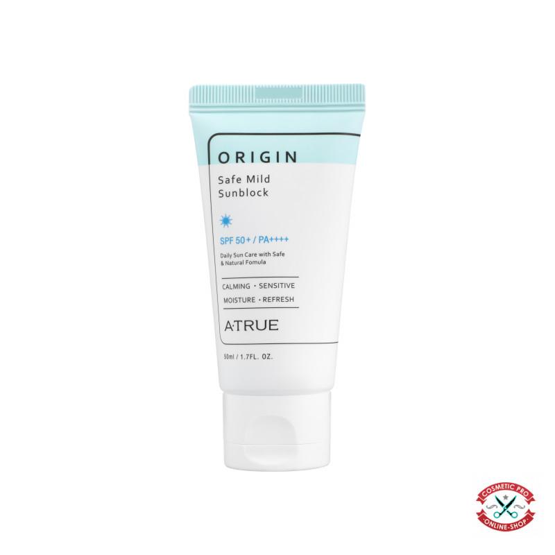 Безопасный мягкий солнцезащитный крем SPF50+/PA+++ A-TRUE