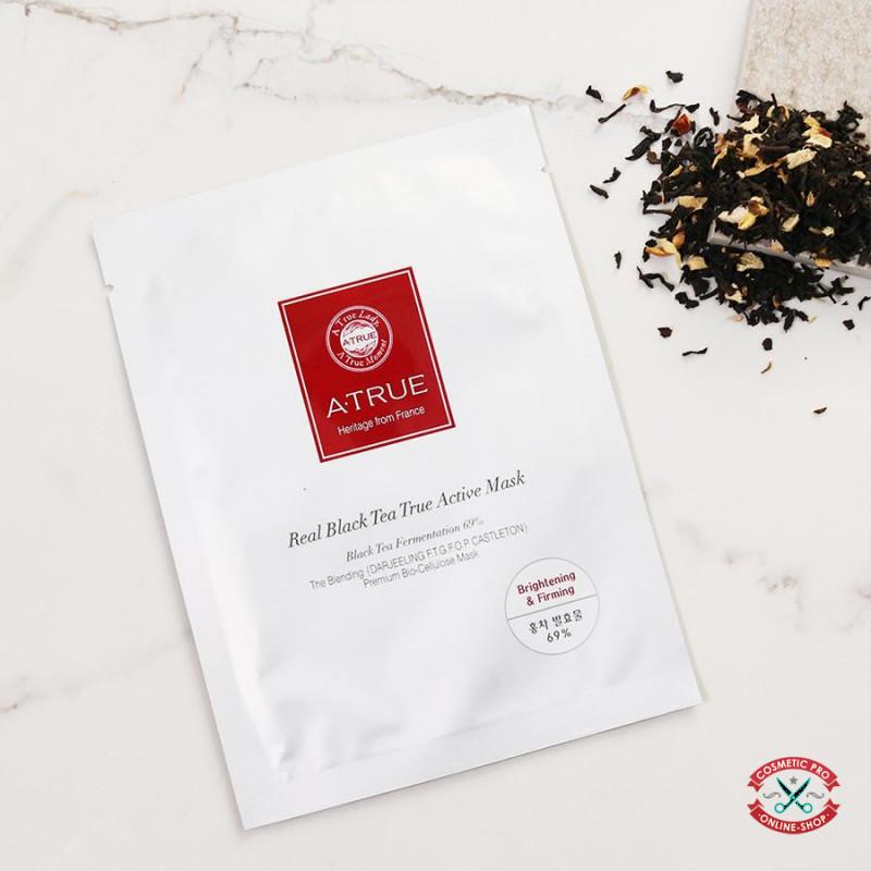 Активная питательная маска на основе черного чая A-TRUE