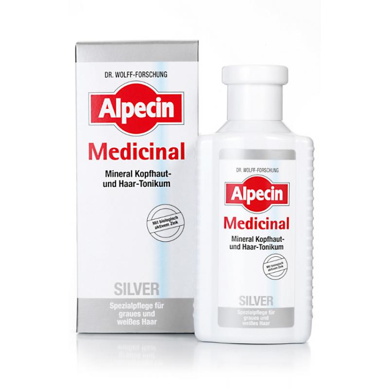 Тоник для седых волос-Alpecin Med SILVER