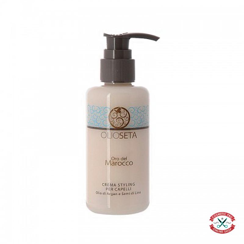 Barex ORO DEL MAROCCO-Крем (моделирующее молочко) для укладки волос с аргановым маслом и маслом семян льна 150ml