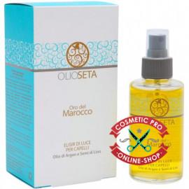 Barex ORO DEL MAROCCO-Спрей «Элексир света» для волос с аргановым маслом и маслом семян льна 100ml