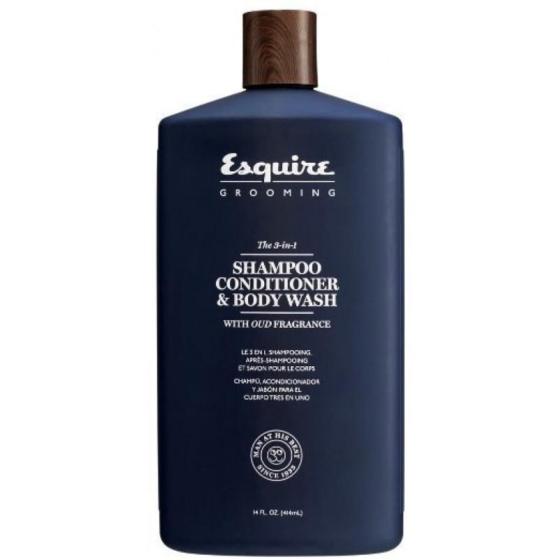 3-в-1 Шампунь, кондиционер, гель для душа Esquire Grooming