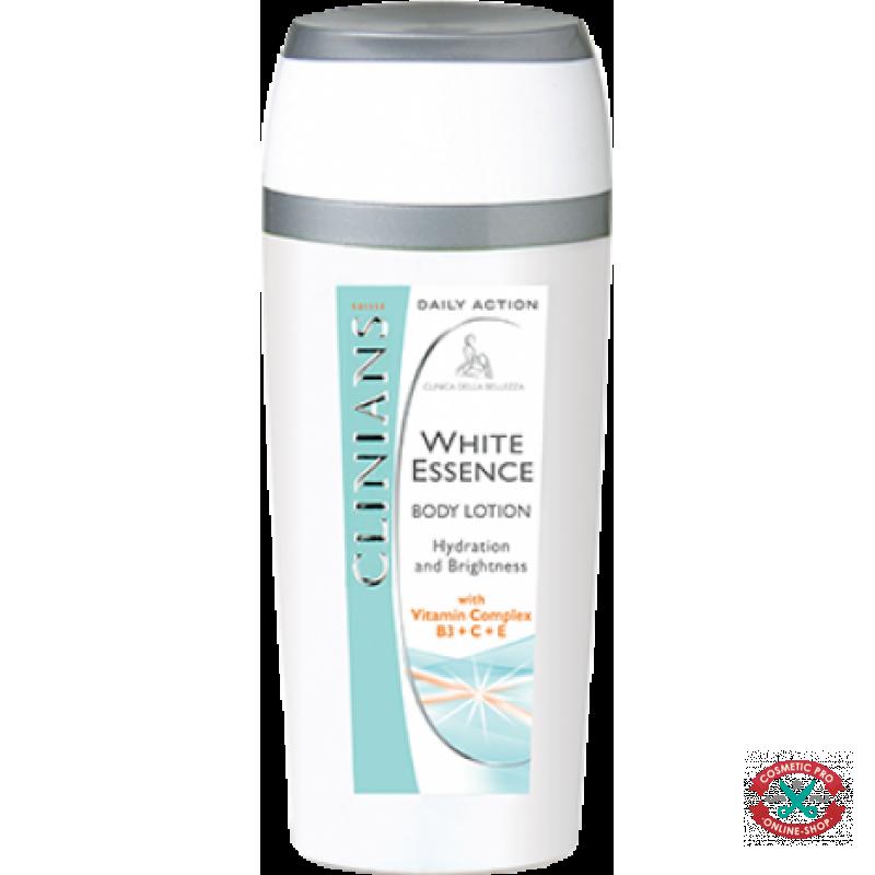 Лосьон для тела увлажнение и сияние с комплексом витаминов В3+С+Е- CLINIANS WHITE ESSENCE