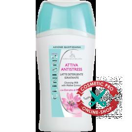 Молочко для лица очищающее с экстрактом Мальвы-CLINIANS ATTIVA ANTISTRESS