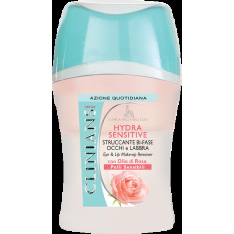 Двухфазное средство для снятия макияжа с глаз и губ c маслом розы – для чувствительной кожи HYDRA SENSITIVE