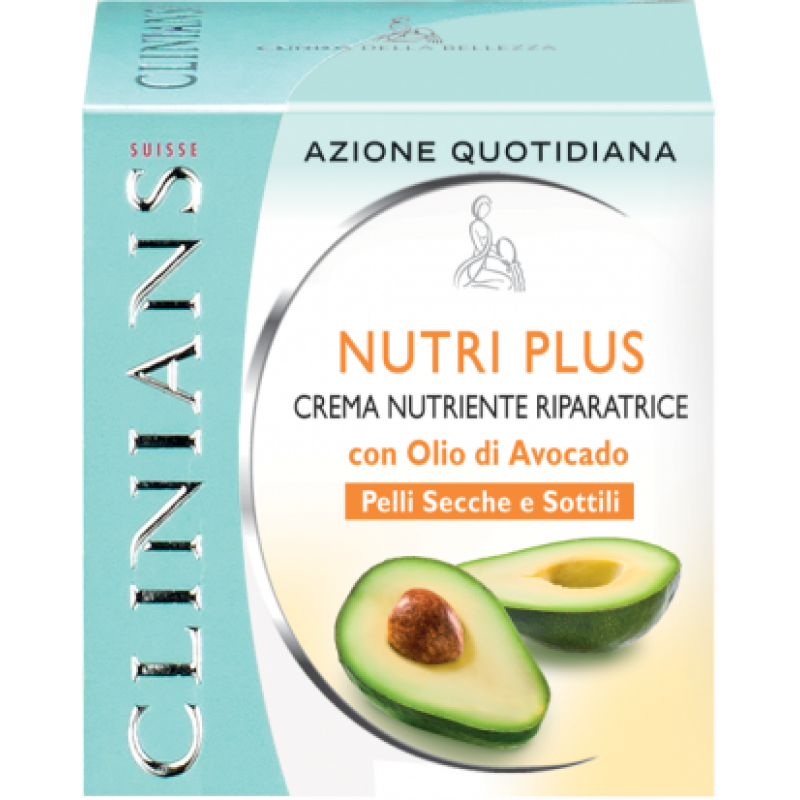 Питательный восстанавливающий крем с маслом авокадо для сухой и тонкой кожи- CLINIANS NUTRI PLUS