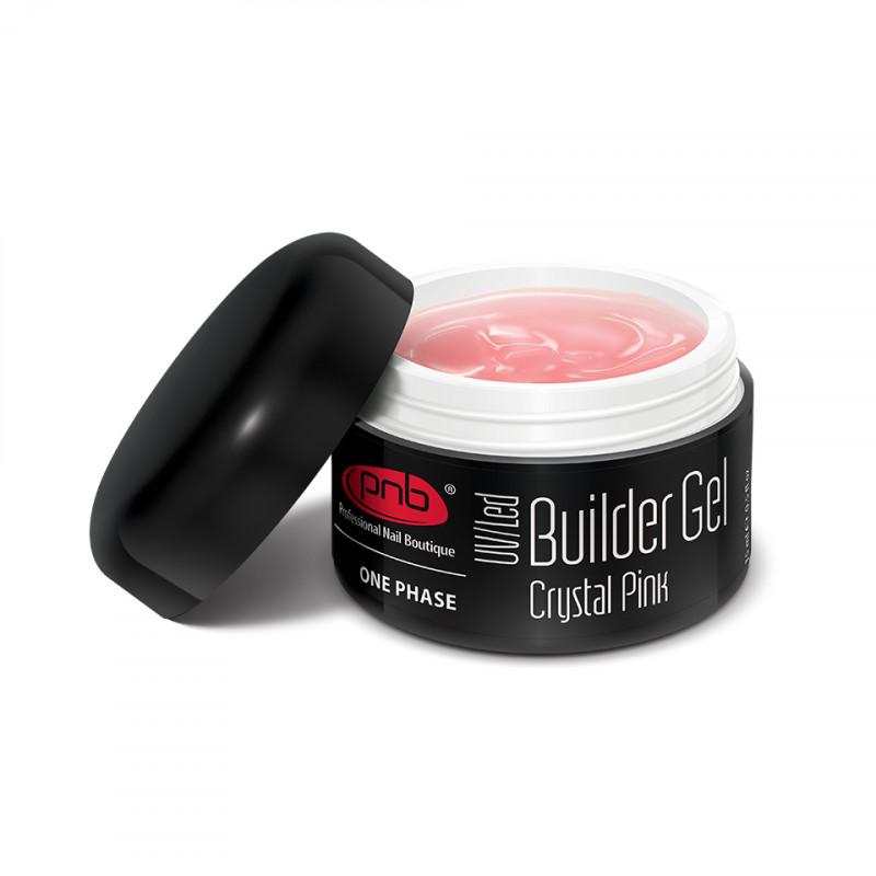 1-фазный  моделирующий гель прозрачно-розовый-PNB One Phase Builder Gel Crystal Pink