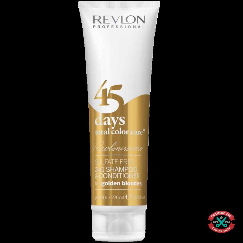 Шампунь-кондиционер золотистый блонд -REVLONISSIMO 45 DAYS GOLDEN BLONDES 2in1