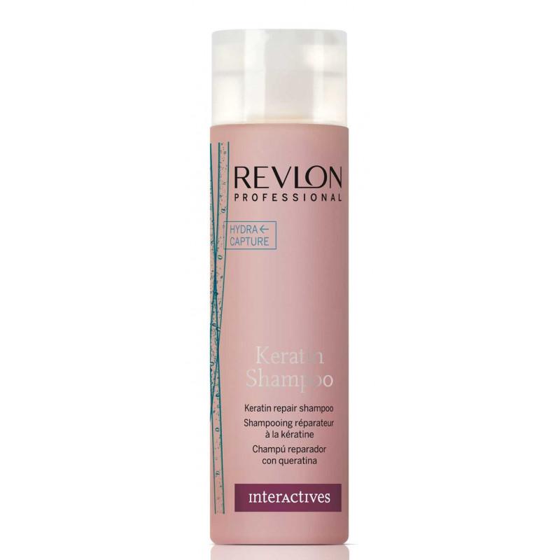 Восстанавливающий шампунь с кератином-Revlon Professional Interactives Keratin Shampoo